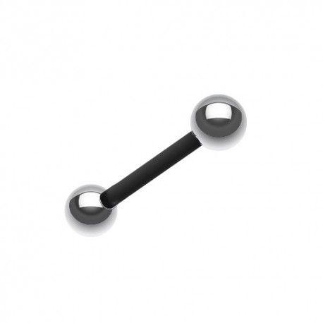Piercing Langue Flexible noir billes Acier #piercing #piercinglangue #piercingtongue #piercingbioflex #piercingaddict
