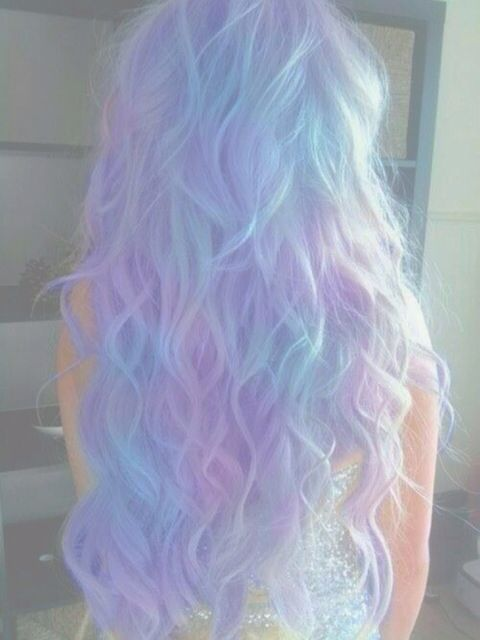 Pastel goth, hair, pale, pastel, kawaii, purple, blue, pink