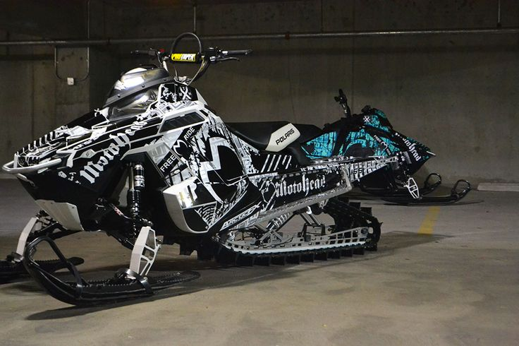 Polaris Pro RMK Moto Head Signature ArcticFX Sled Wrap