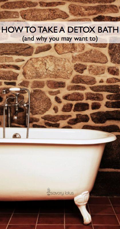 How to Take a Detox Bath -  www.savorylotus.com