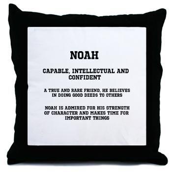 Noah Name Meaning Throw Pillow