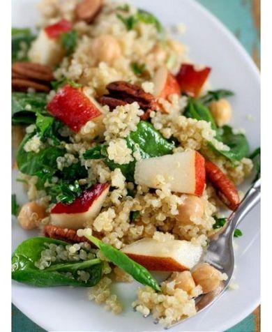 ... Salad Recipe, Gluten Free, Maple Vinaigrette, Maple Syrup, Quinoa