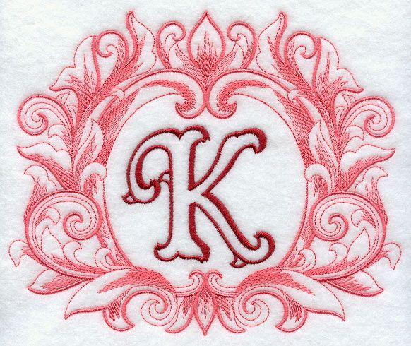 Grand Flourish Capital Letter K 6 1 2 Inch K Is For