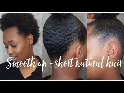 How To Do A Sleek Ponytail on Short Natural Hair | Updated Version - YouTube