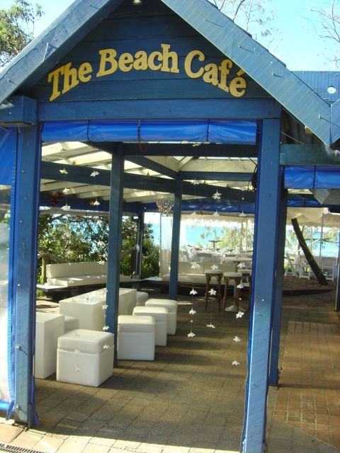 flowers by www.beautiflora.com Beach Cafe back in the day! Byron Bay