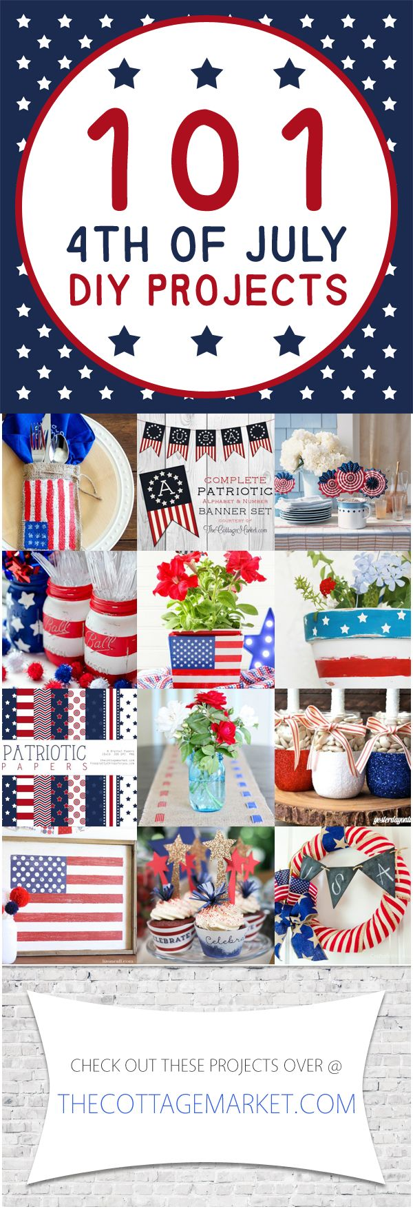 101 4th of July DIY Projects - The Cottage Market