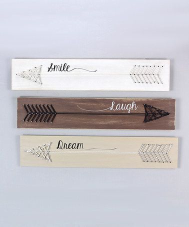 Look what I found on #zulily! Vintage Wood Arrow Wall Sign Set #zulilyfinds