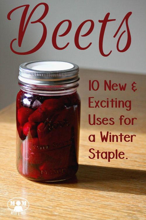 Beets don't have to be that ugly red vegetable tucked away in the back of your pantry! Learn 10 new and exciting uses for this winter staple at Mom with a PREP!