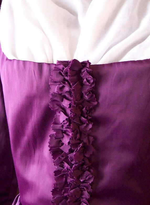 No fancy equipment needed! Ruffled fabric or ribbon trim is a hallmark of 18th century fashion. It was often made of the same fabric as the rest of the dress or in a contrasting color. The ruffles …