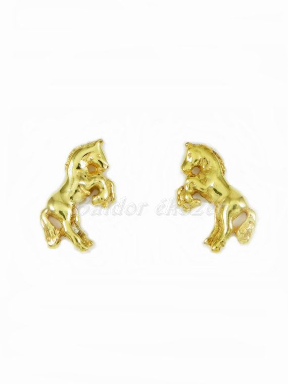 14K Horse Earrings by BaldorJewelry on Etsy