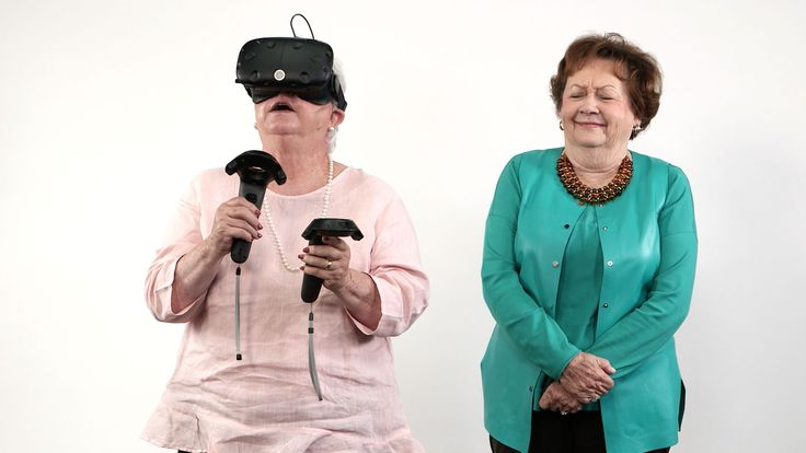"Southern Grandparents React To Virtual Reality | Southern Living | ""Virtual reality is the newest technological advancement in video gaming, so we decided to test it out on our favorite people: Southern grandparents. Some visited a scenic cliff, some shot arrows at castle intruders, and some killed zombies. All of them were thrilled."" This is so funny! Enjoy!"