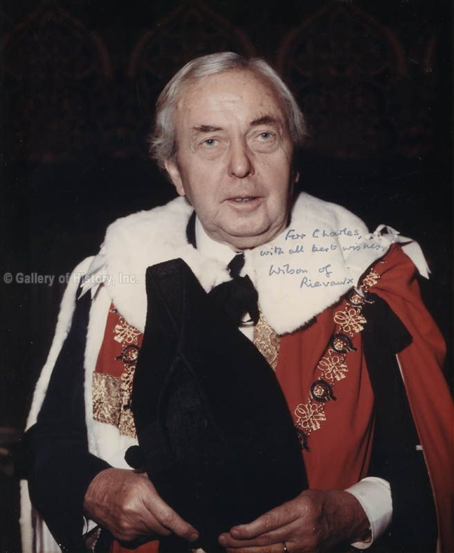 James Harold Wilson, Baron Wilson of Rievaulx KG OBE PC FRS