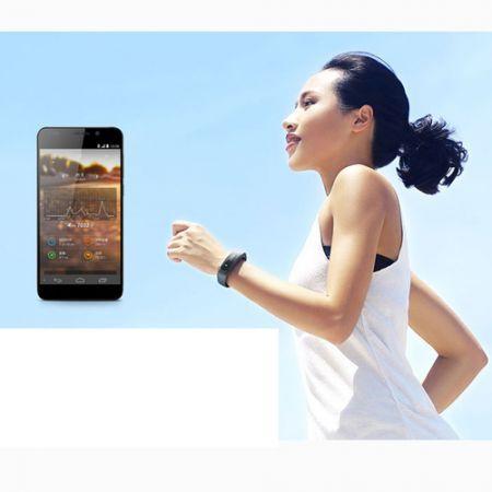 Smart Wrist Watch Bracelet Waterproof IP57 Bluetooth 4.0 for iOS Android - Black