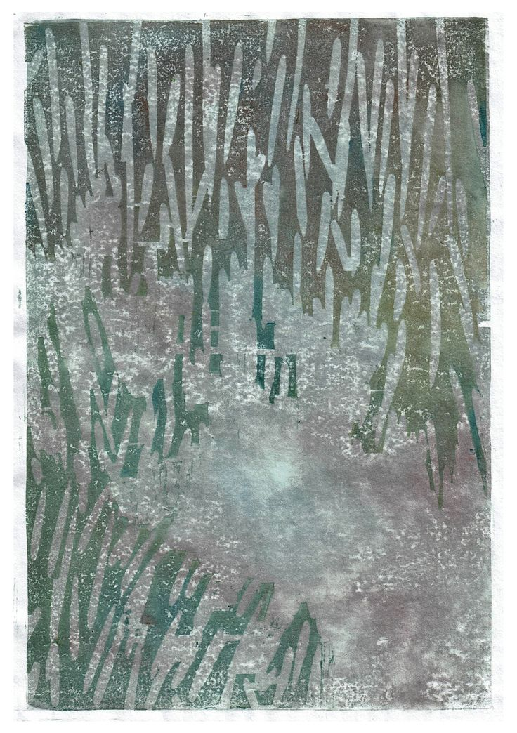 """""""untitled"""" by Lukas Bolz #abstract #abstractart #art #woodblockprint #watercolour"""