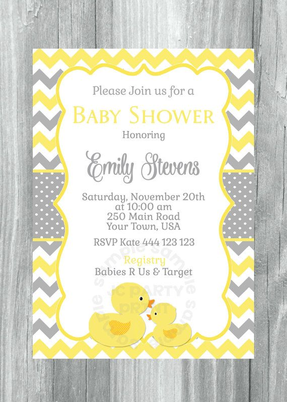 Printable Chevron Rubber Ducky Baby Shower by JCpartyprint on Etsy.  $12.01.