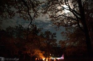 The property is holds space for many events. Here, Tanya's wedding, complete with bonfire!