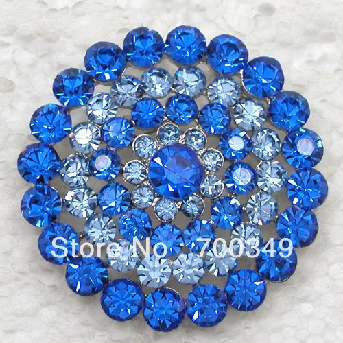 12 piece/lot броши сапфир кристалл горный хрусталь свадьба ну вечеринку пром круг цветок булавка брошь ювелирные изделия C906 B