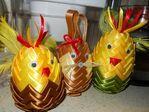 Мобильный LiveInternet Пасхальные яйца из лент в технике АРТИШОК   Марриэтта - Вдохновлялочка  Марриэтты  
