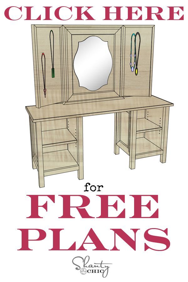 Build a quality, custom, children's vanity for less than you can purchase retail! Easy to follow how-to plans and instructions at www.shanty-2-chic.com