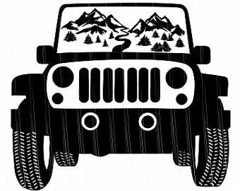 Download Jeep climbing mountain svg | Etsy | Mountain svg