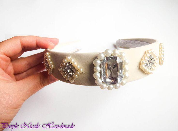 Grushenka - Handmade Bridal HeadBand by Purple Nicole (Nicole Cea Mov). Materials: ccabochon, pearls, rhinestones.