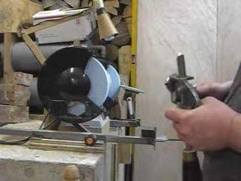 sharpening jig setup for bowl gouges
