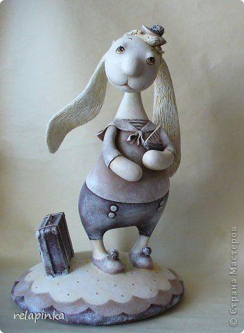 Игрушка Папье-маше Кролик Бумага фото 1