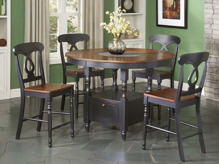 Largo Phillip Counter Height Table W Lazy Susan