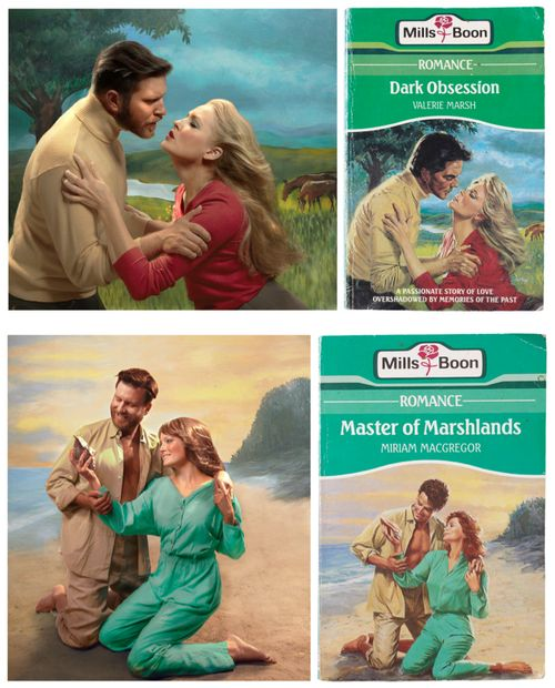 Romance novel covers recreated