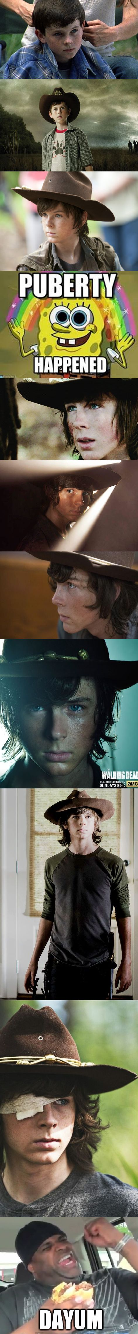 CARL GRIMES OVER THE SEASONS.... OH MY DAYUM!!!!