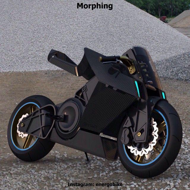 Morphing Особенностью этого концептуального электробайка, является регулируемое сидение пилота. Нажатия одной кнопки достаточно, что бы принять более низкое и устойчивое положение, для езды на  высокой скорости. #bikelife #bike #moto #motogp #motorbike #sportbike #motolife #superbike #bikestagram #cycle #instamoto #instabike #monsterenergy