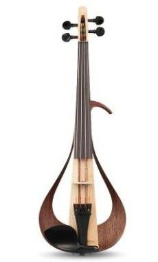 Yamaha YEV Electric Violin is a completely new look for electric violins! Stunning design, constructed out of many different woods for a more natural tone