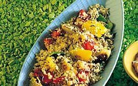 Couscous med grillade grönsaker