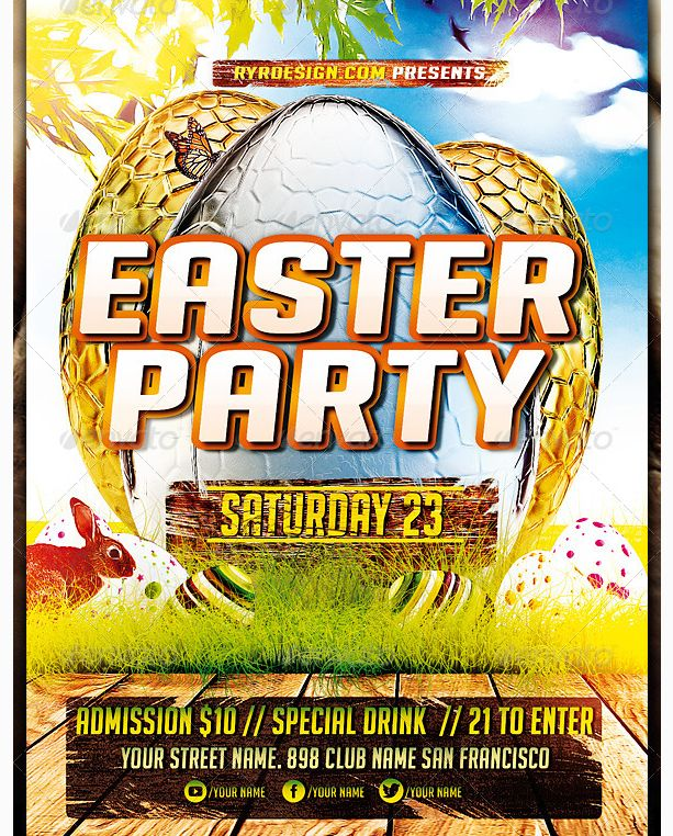 101 Best Easter Party Flyer Template Images On Pinterest | Easter