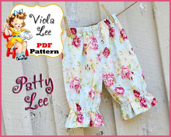 Patty Lee...Girl's Ruffle Pants Pattern Ruffle door ViolaLeePatterns