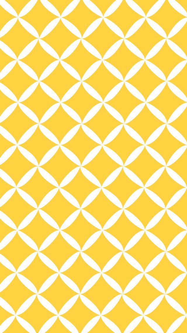 黄色の菱形模様 iPhone5 壁紙