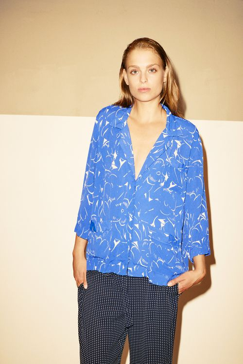 Natasha French Fleur Jacket 184.6158.431 & Nathalie Dotty Vicose Crepe Pants 011.6169.450.