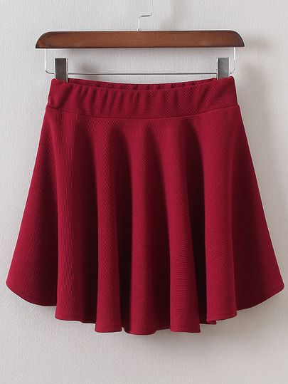 Falda línea A cintura elástica-Sheinside
