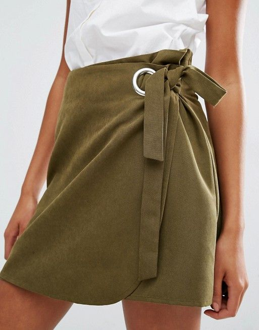 An easy wrap skirt for hot days. Let Daily Dress Me help you figure out what to wear: dailydressme.com