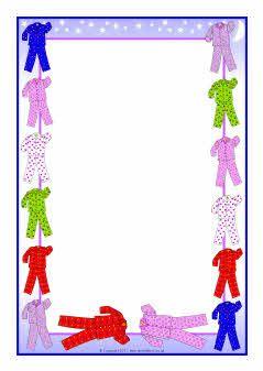 Pyjamas-themed A4 page borders (SB5120) - SparkleBox