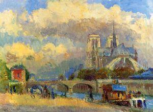 Notre Dame de Paris 1 - (Albert Charles Lebourg)