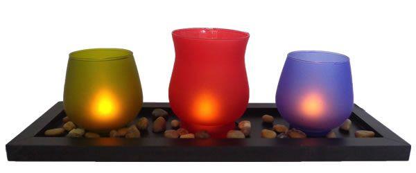 Centros de mesa velas Led  www.almaludeco.com Envíos a todo Colombia