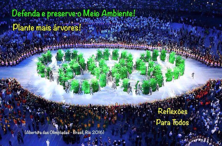 """Acesse: """"Defenda e preserve o Meio Ambiente! Plante mais árvores!"""" (Foto - Olimpíadas-Brasil-2016)."""
