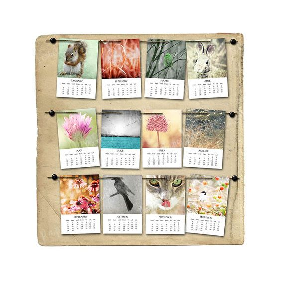 2014 4x6 PRINTABLE photo calendar Intant Download by Paper Meadows on Etsy.