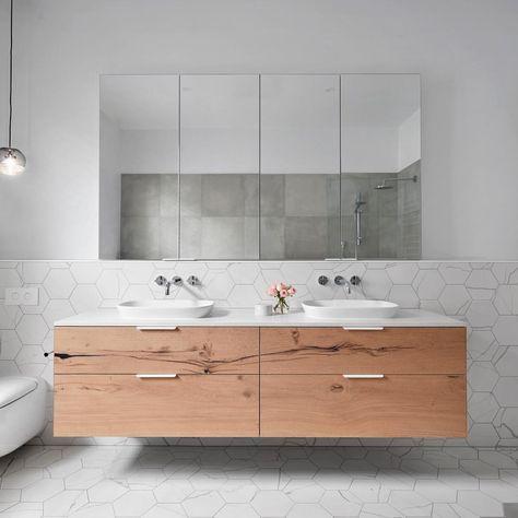 "460 Likes, 4 Comments - Caesarstone Australia (@caesarstoneau) on Instagram: ""This bathroom is epitome of refined, industrial elegance @smarterbathroomsplus mix neutral…"""