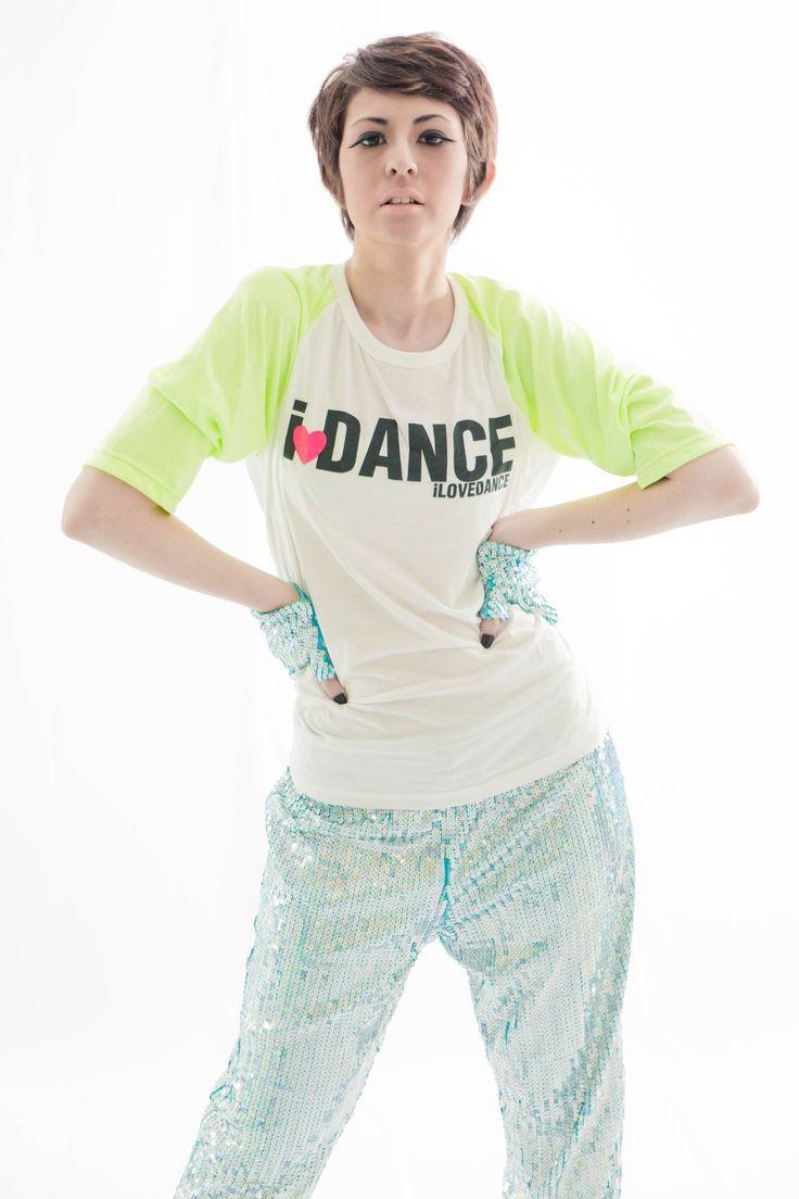 Neon Blink 2013 Collection   I❤DANCE White Neon Raglant Top  Blink Training Pants