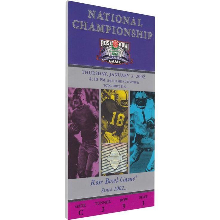 That's My Ticket Miami Hurricanes 2002 BCS National Championship Canvas Mega Ticket, Team