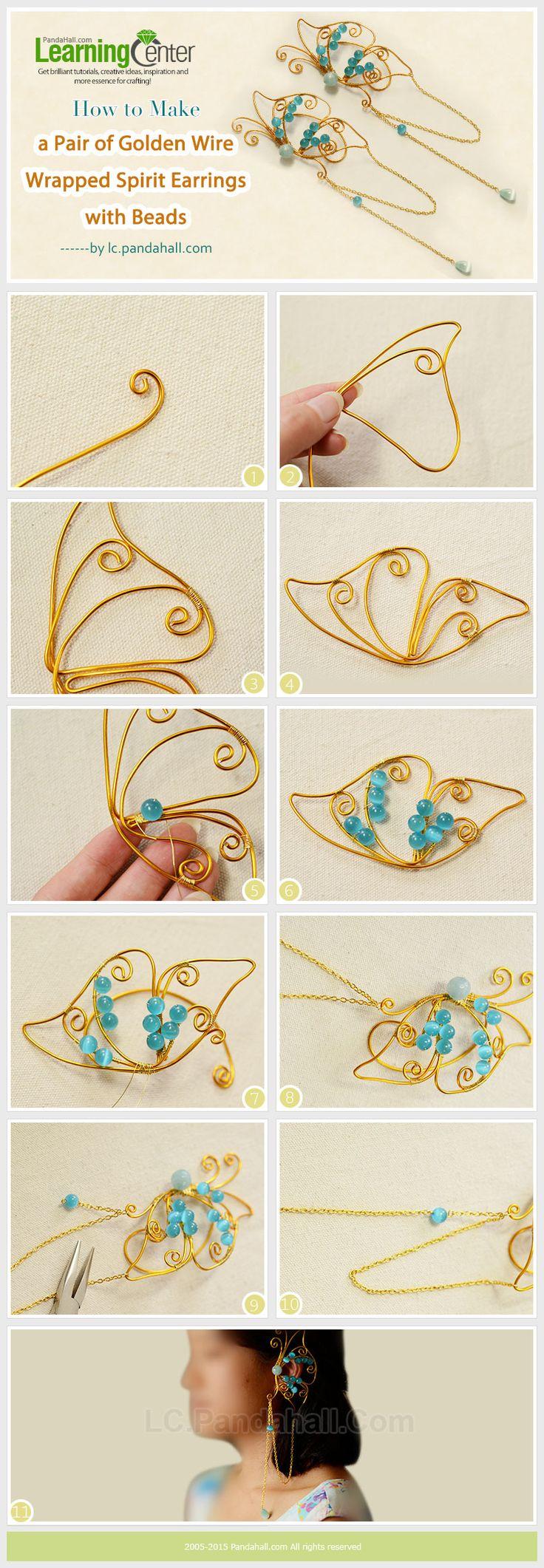 354 best Wirework Tutorials images on Pinterest | Wire jewelry, Wire ...