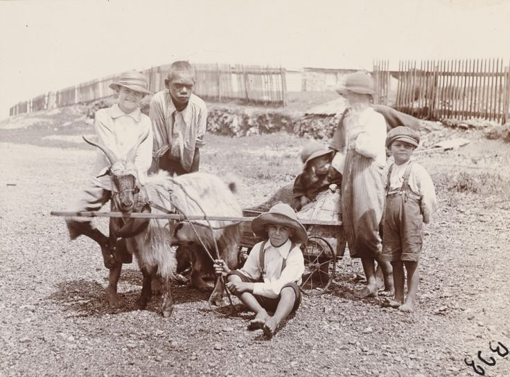 BA338/1/27: Children with goat cart, Roebourne, 1900 http://encore.slwa.wa.gov.au/iii/encore/record/C__Rb4721734?lang=eng
