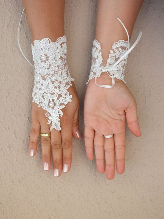 Wedding Gloves ivory lace gloves lace ivory wedding by WEDDINGHome